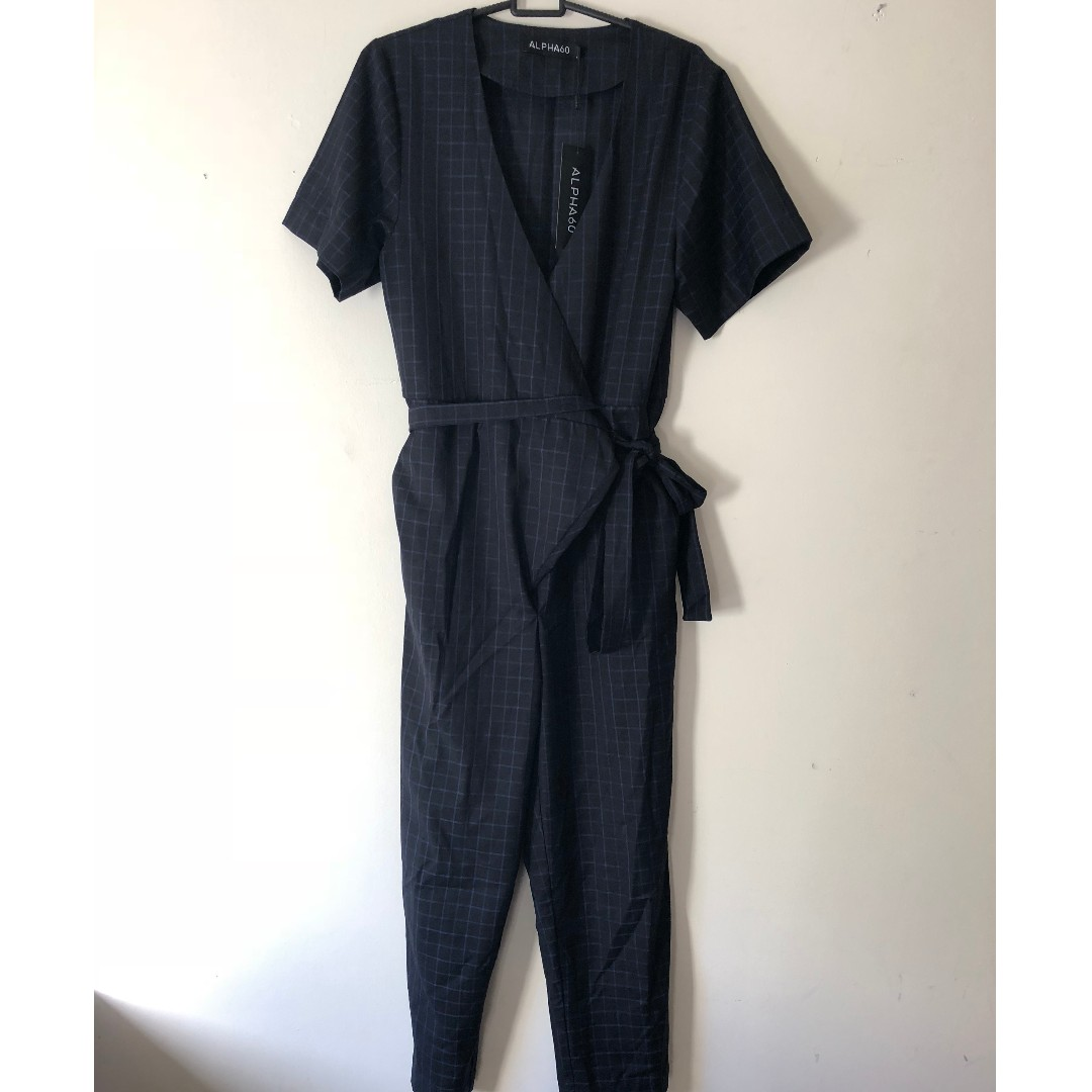 ALPHA 60 grid Jumpsuit NEW WITH TAG sz S