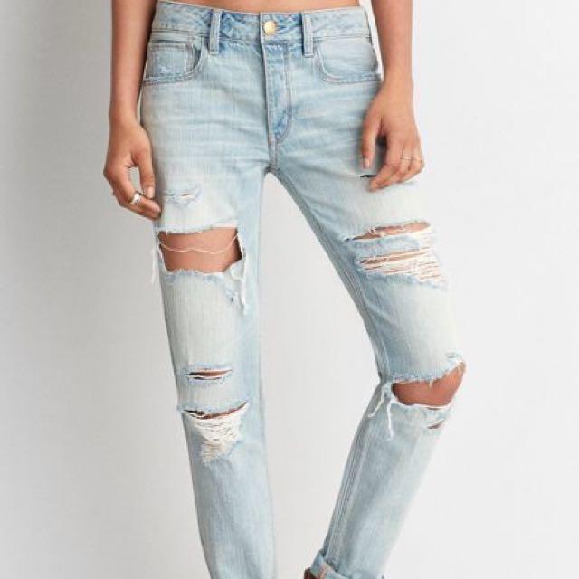 e4ba43c5e4 American Eagle Outfitters Tom Girl Jeans AEO, Women's Fashion ...