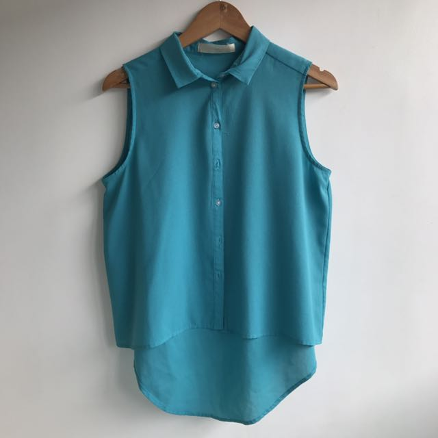 Apartment Teal Blouse
