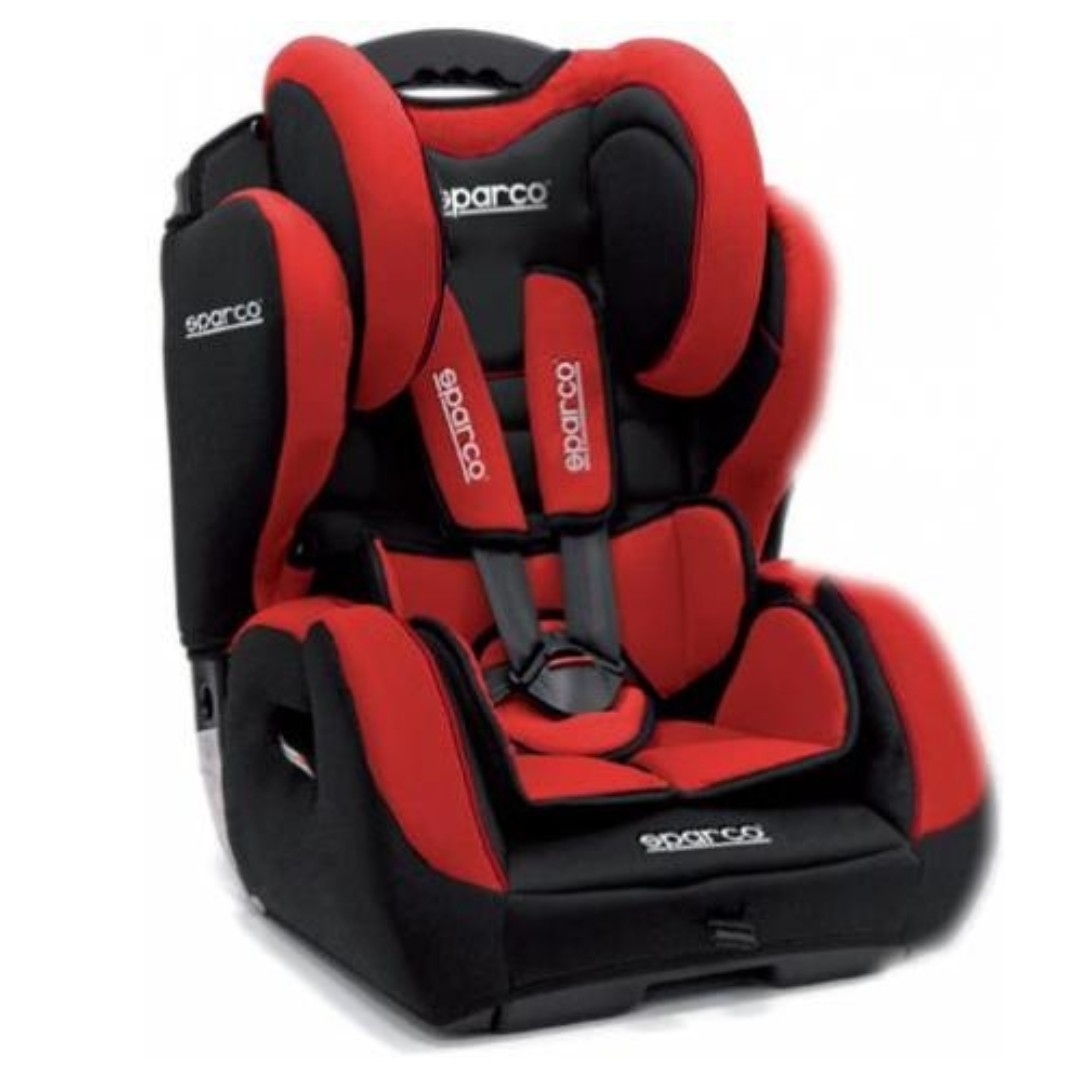 AUTHENTIC KIDS CAR SEAT SPARCO GR I-III. Warna : Black-Red, Black-Grey, Black-Blue (Out of Stock).