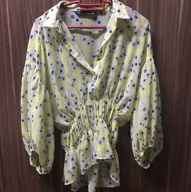 Authentic Zara Yellow Top