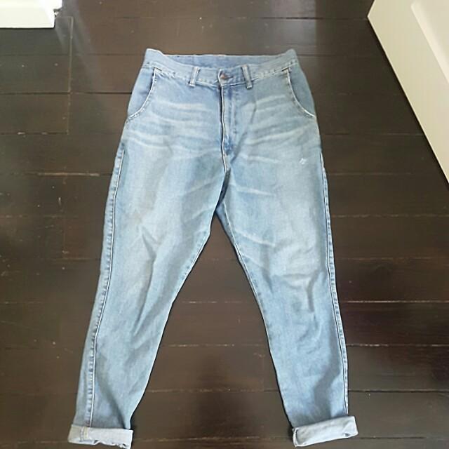 Bassike low crutch Jeans