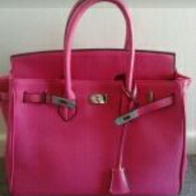 Beautiful pink handbag