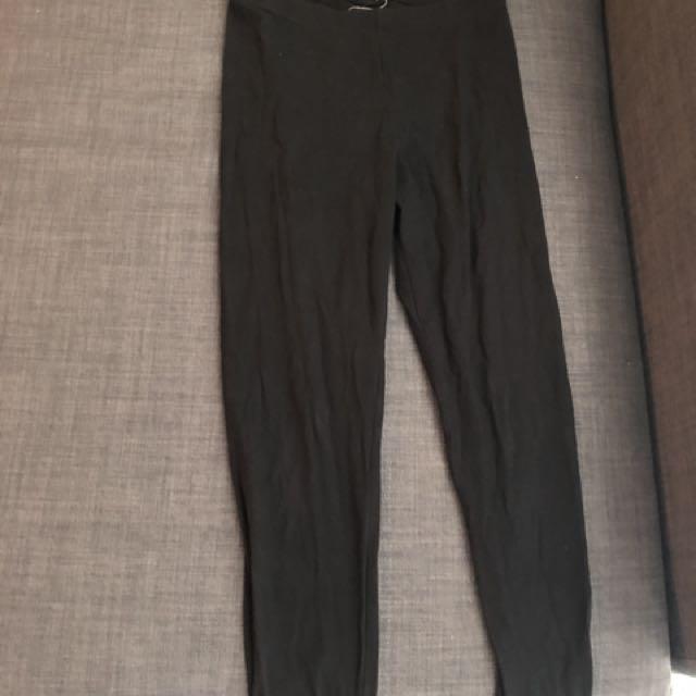Black and studded leggings