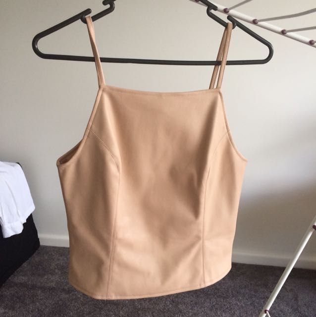 Blush leather top