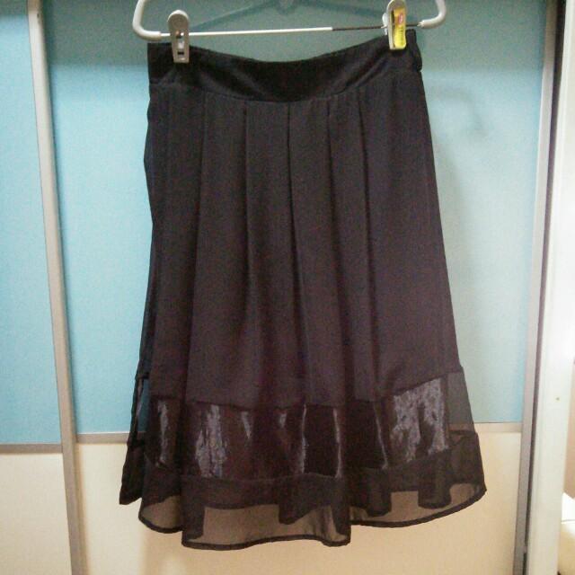 BNIP Black 3/4 Skirt