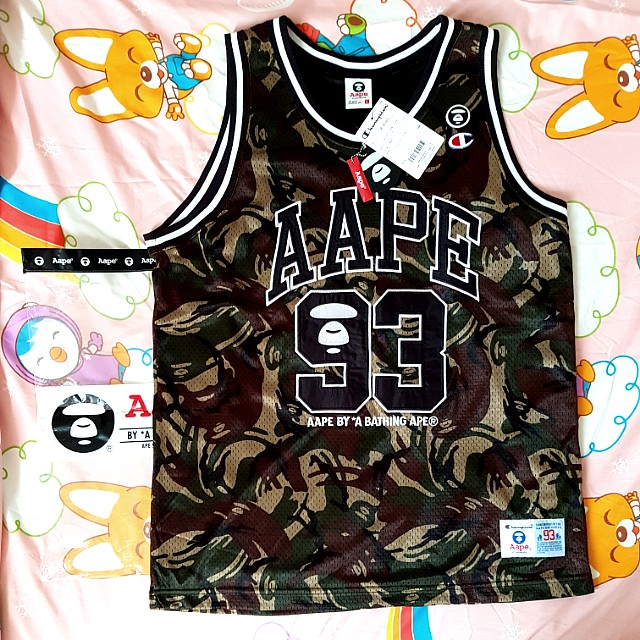b919a5efe Brand New Aape A Bathing Ape x Champion Camo Jersey., Men's Fashion ...