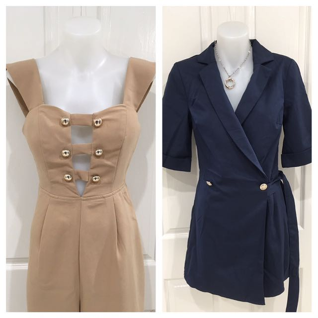 Brand new jumpsuits/playsuits still with tags and various sizes available