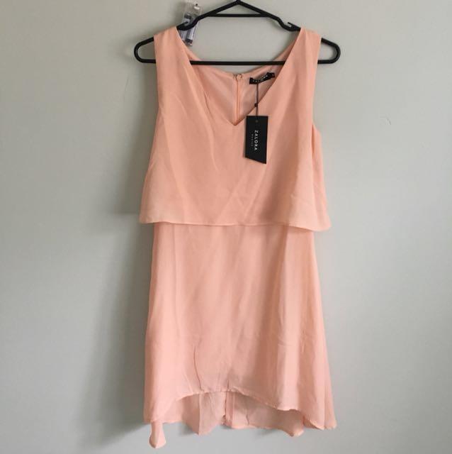 Brand new Peach dress size S