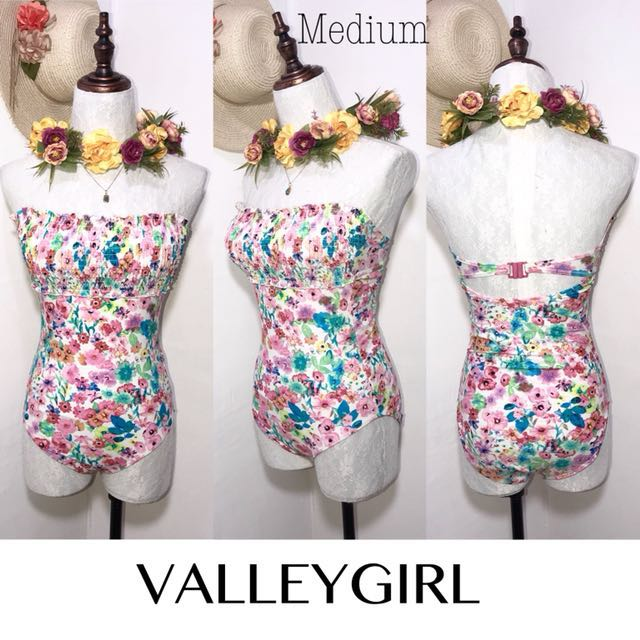 Branded Tube Floral One Piece Swimsuit FO28