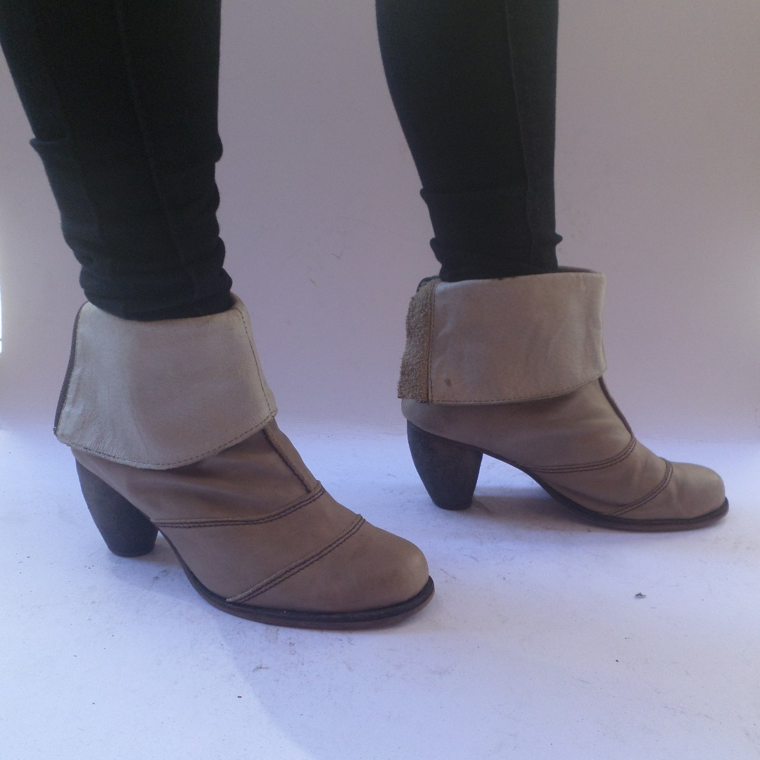 Brown Folded Boots