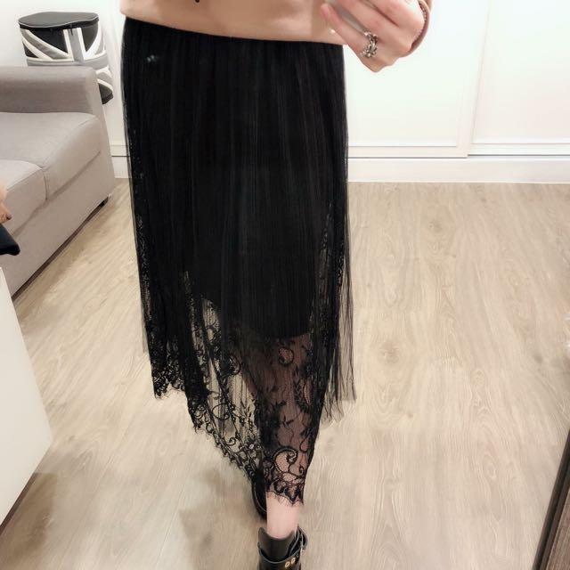 C227蕾絲紗紗裙
