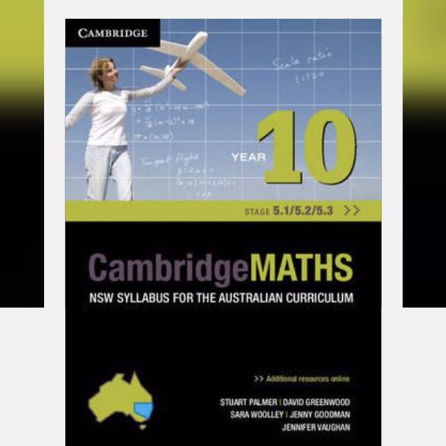 Cambridge Maths Year 10 Stage 5.1, 5.2 and 5.3