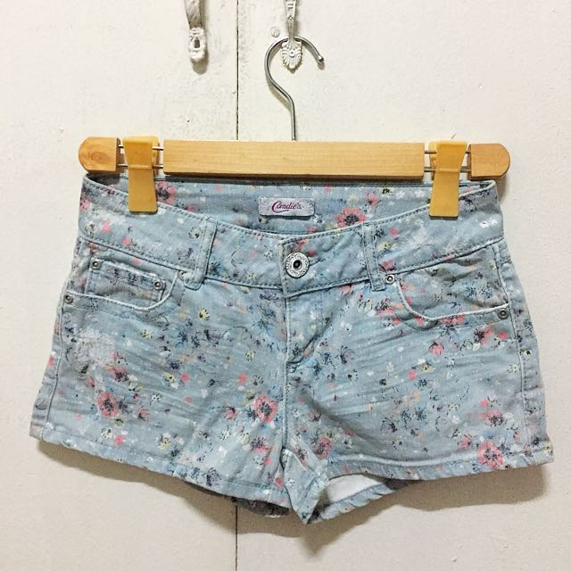 Candie's Floral Denim Shorts