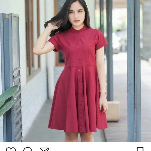 Casual dress maroon/ red