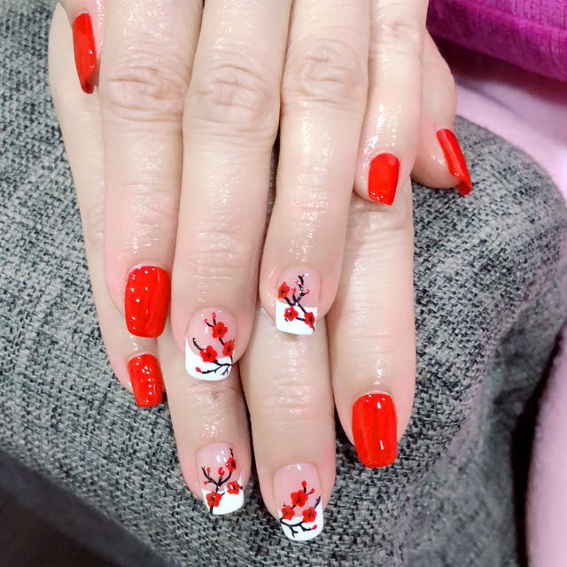 Chinese New Year Nail Design Health Beauty Hand Foot Care On