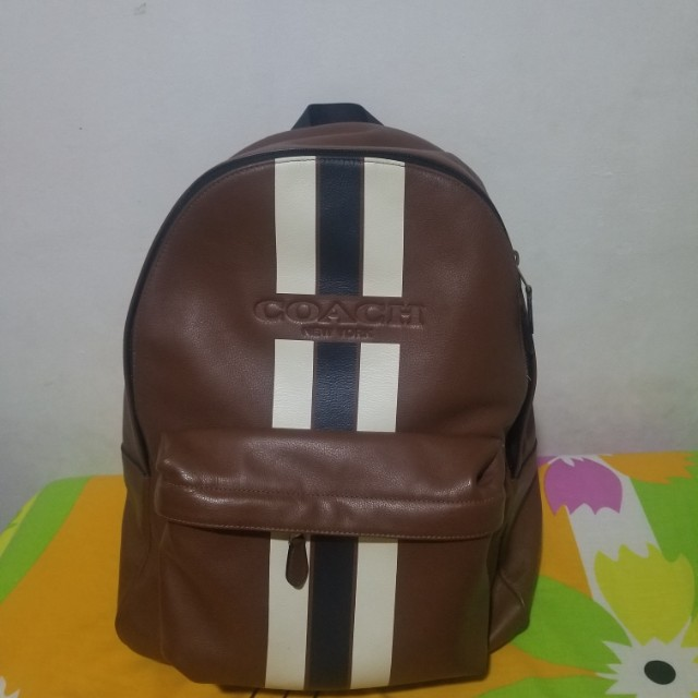 9c0ab04f94a Coach Men s Backpack (Varsity Stripe) not Prada Gucci Louis Vuitton ...