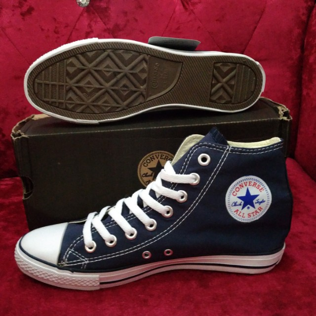 2c65e410b46fa3 Converse All Star Navy Blue High Cut Sneakers