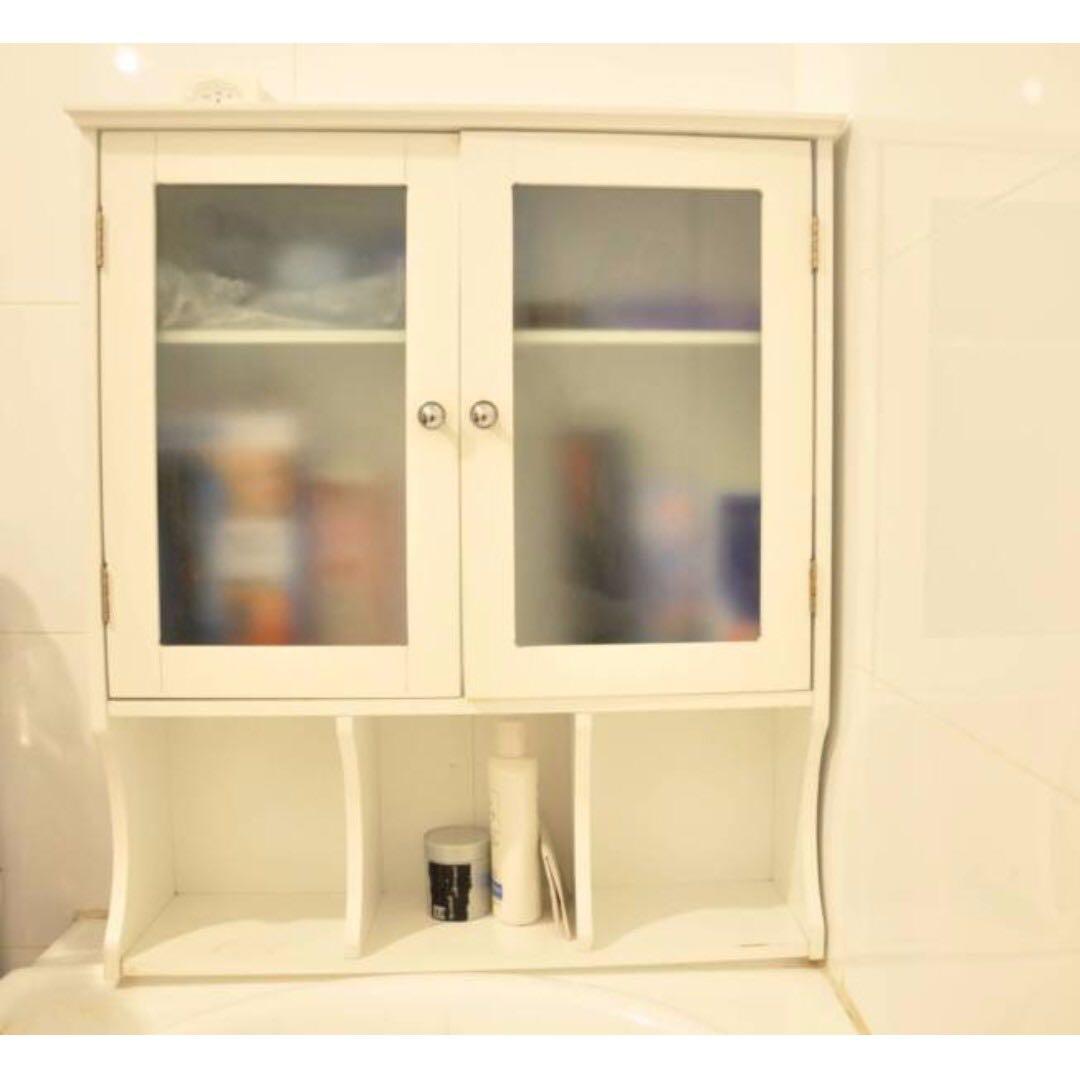 Cosmetic/ Bathroom WOOD CABINET/ SHELVE