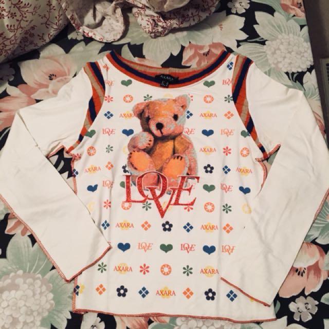 Designer Axara brand teddy top