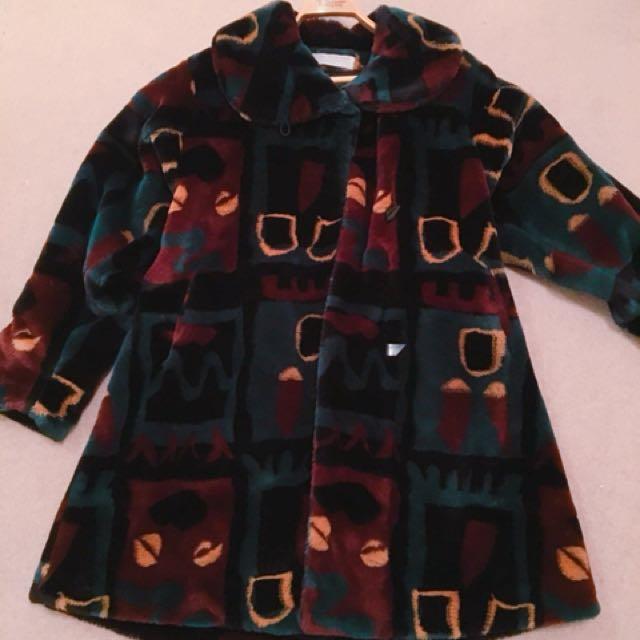 Designer faux fur coat
