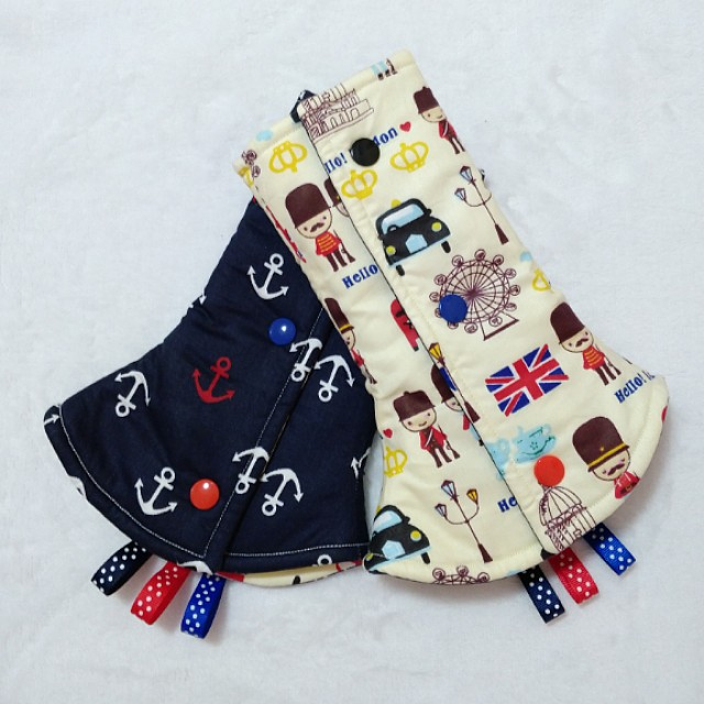 [READY MADE] Drool Pads - London and Anchor