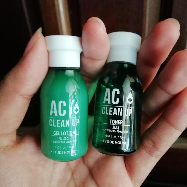 Etude House AC Clean Up Toner/Gel lotion, Health & Beauty, Skin, Bath, & Body on Carousell