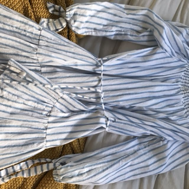 Faithfull the brand striped dress new