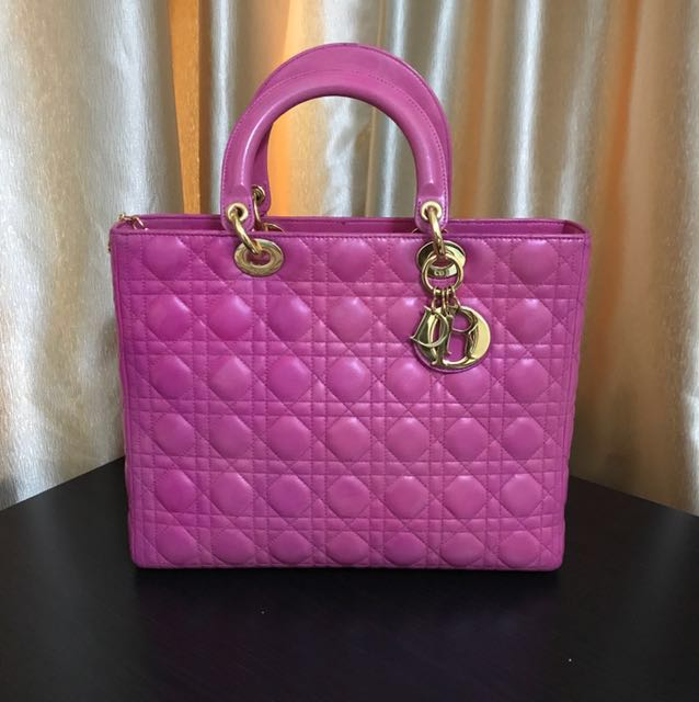 🔥Fast Deal 🔥Lady Dior Large - Pink Lambskin