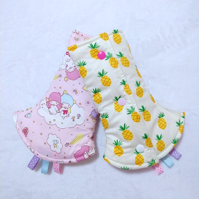[FLASH SALE] Drool Pads - Pink Twin Stars and Pineapple
