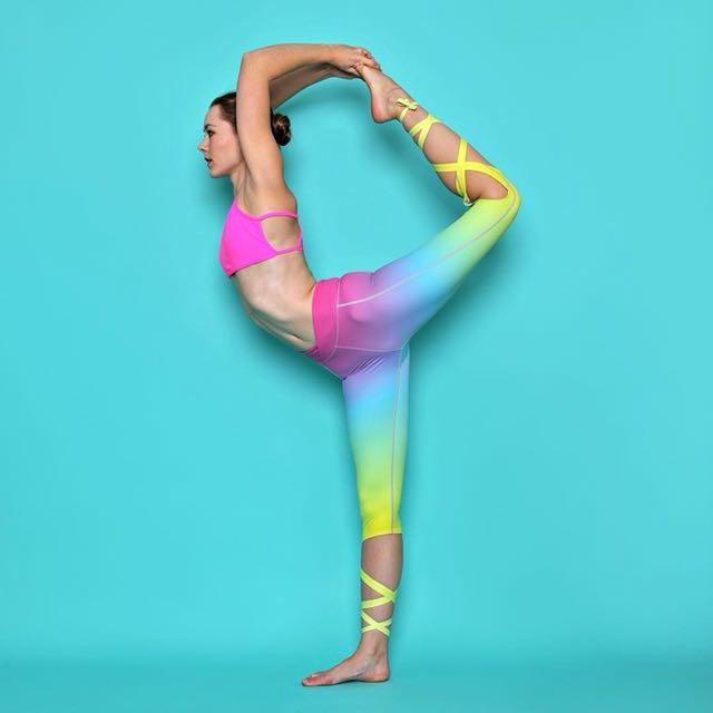 4a7d2e83ed0dd Flexi lexi ombré rainbow dancer leggings size M