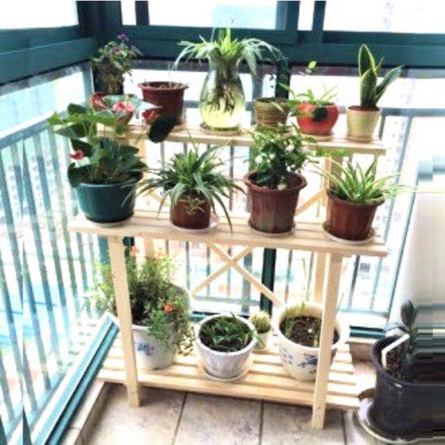 Plant Rack Garden Pot Shelf Organiser