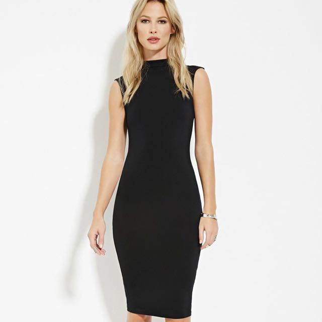 Forever 21 Mock Neck Bodycon Dress