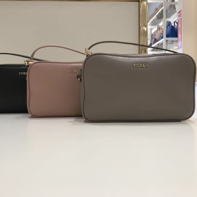 new arrival save off nice shoes Furla Lilli Double Zip Crossbody, Women's Fashion, Bags ...