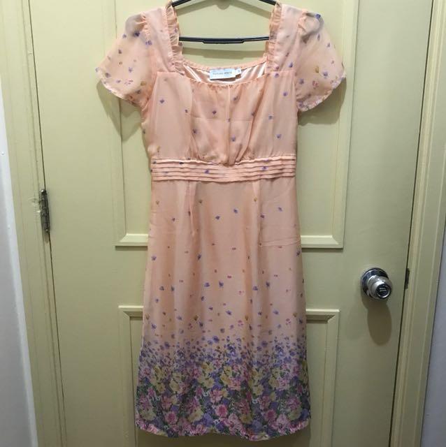 Future State Peach Chiffon Dress