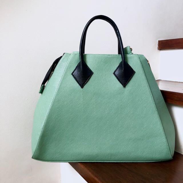 Green Satchel Bag