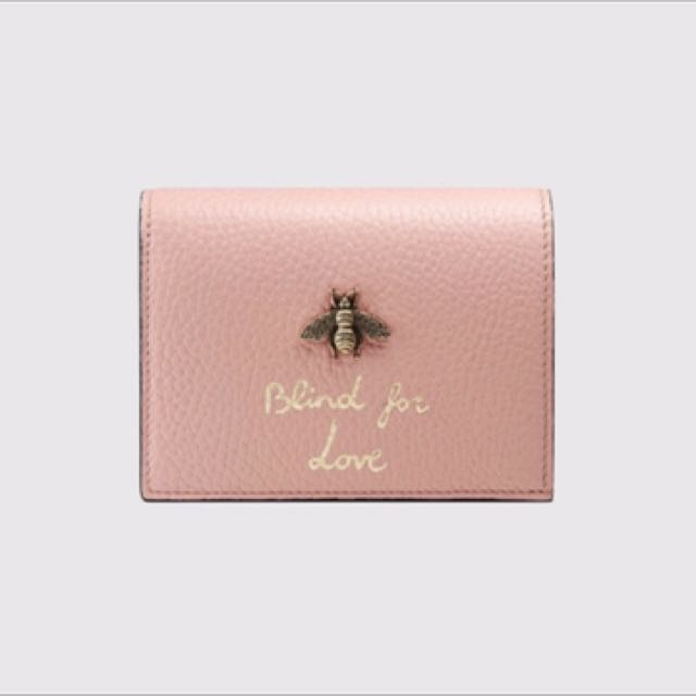 Gucci animalier  Blind for love蜜蜂短夾