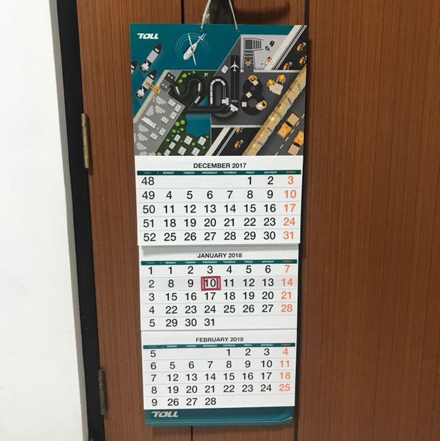 hanging wall calendar on carousell