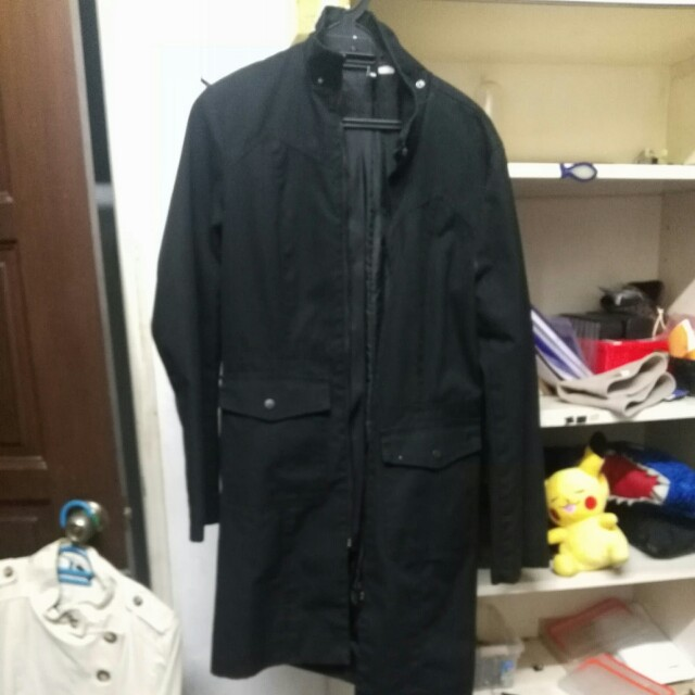 H&m divided female trench coat (size 10)