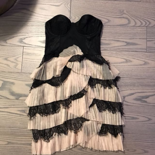 H&M lace detail dress with bustier