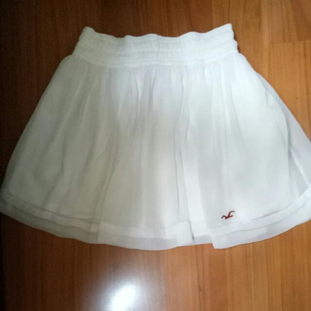 Hollister white skirt