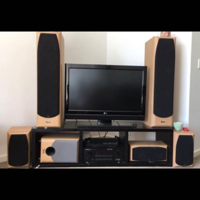 Infinity speaker system + marantz amp