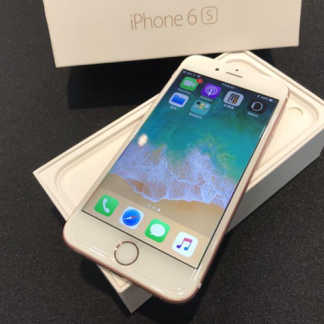 玫瑰金iPhone6S 64G盒裝 附原廠充電頭加線 無耳機 高雄鳳山可面交