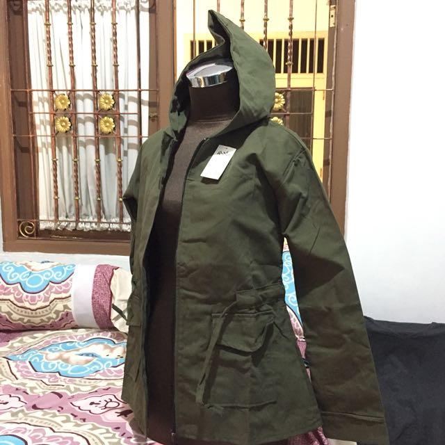 Jaket Parka Hijau Army 3ab9377076
