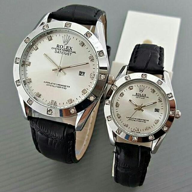 Jam Rolex Couple Kulit Tanggal