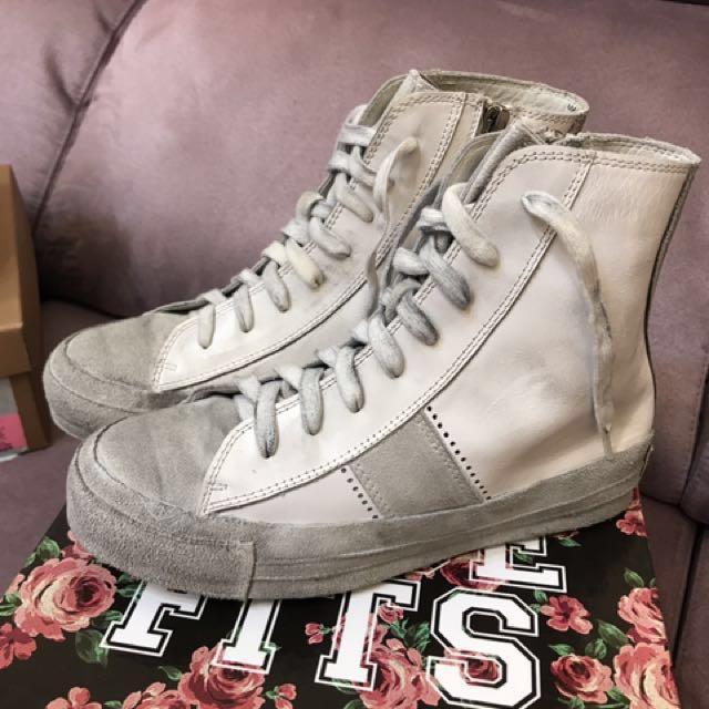 降價🎁Jeffrey Campbell 白色仿舊休閒鞋
