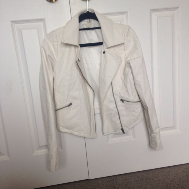 Just Jeans White Leather Jacket