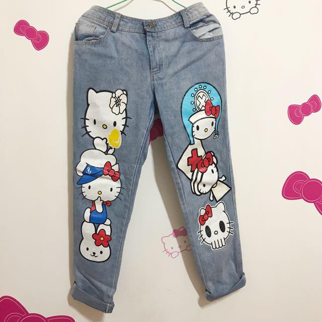 Kitty 牛仔褲