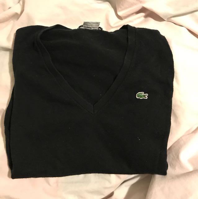 Lacoste long slv knit Size 34(XS)