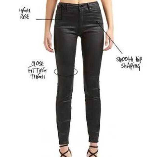 Lee high licks lux black coated jeans